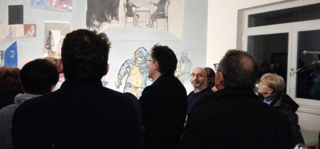Arte al Bistrò. Inaugurato il murale della Sala Zapparoli