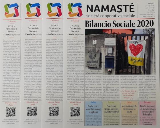 La Pandemia in Namasté: il racconto nel Bilancio Sociale 2020